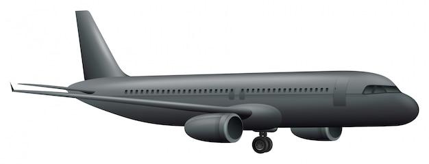 白い背景に大きな飛行機