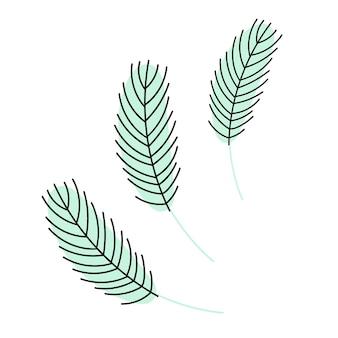 白い背景で隔離の鳥の羽。ベクトルイラスト