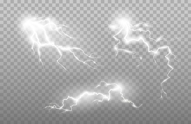 少し稲妻と点滅。雷雨の充電エネルギー。