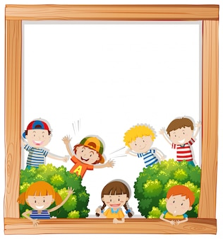 A blank board with children