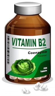 A Bottle of Vitamin B2