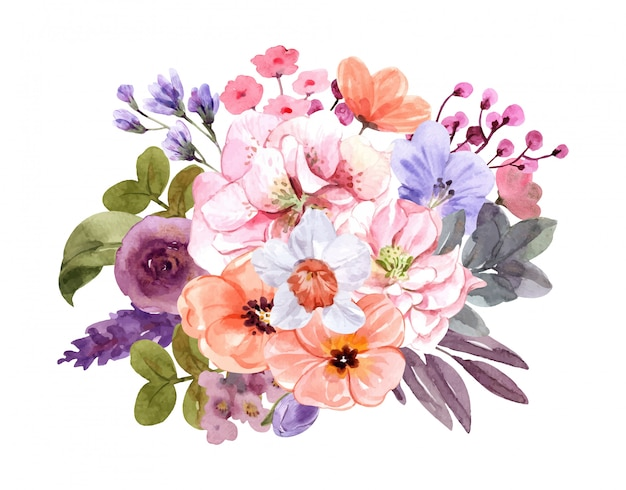 여름에 꽃의 꽃다발