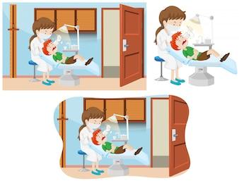 Мальчик и стоматологическая клиника