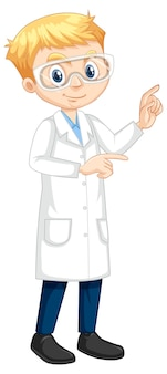 白衣を着た少年漫画のキャラクター