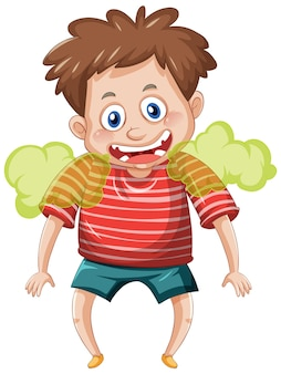 Мальчик с неприятным запахом изо рта мультипликационный персонаж