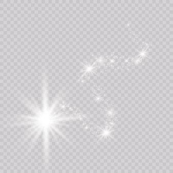 明るい彗星。流れ星。グローライト効果。