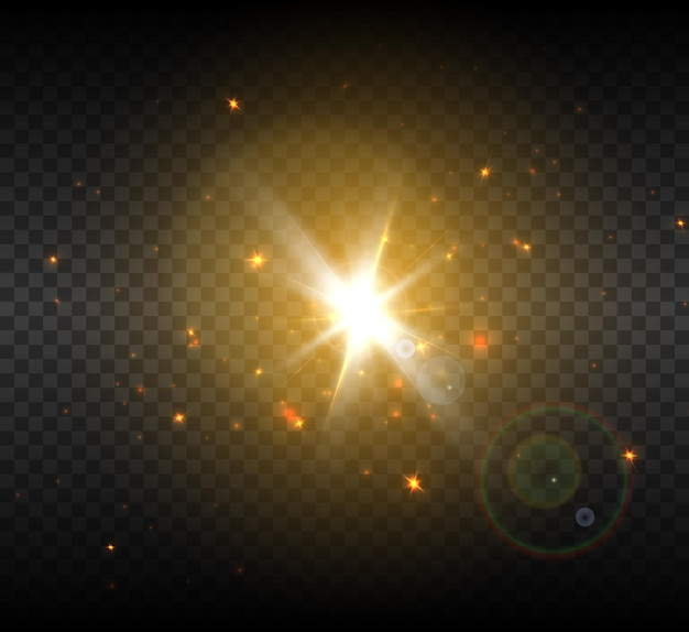 光のちらつきの明るいフラッシュ。