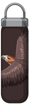 호크 패턴의 갈색 보온병