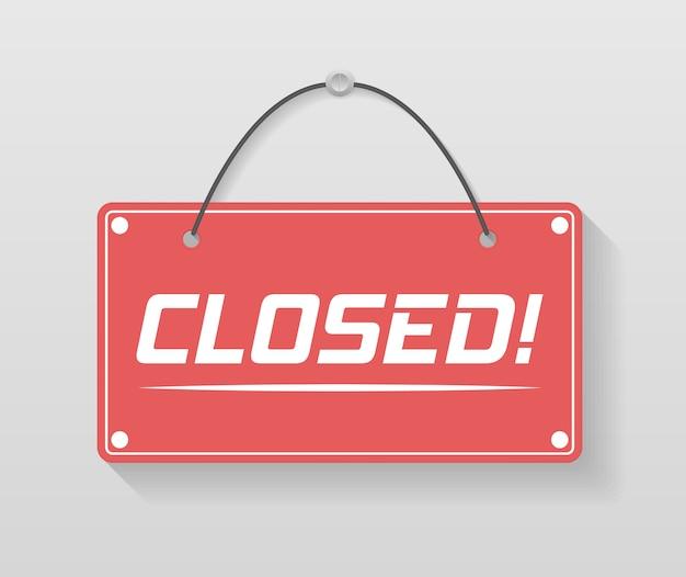 来て、私たちはオープンだというビジネスサイン。ロープで看板。さまざまなオープンとクローズのビジネスサインのイメージ。イラスト、。