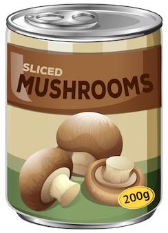 Кусочек разрезанных грибов