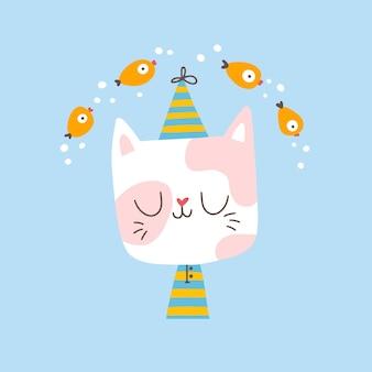 Кот в пижаме снится к рыбе