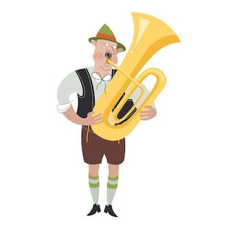 オクトーバーフェストフェスティバルの陽気なキャラクター