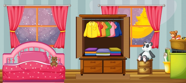 Шаблон детской спальни
