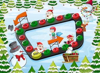A christmas board game
