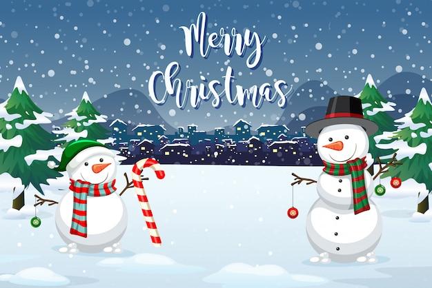 クリスマスの屋外の背景