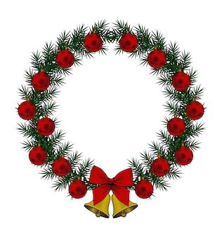 Рождественский венок идеально подходит для рождественского украшения