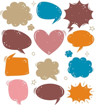 A collection of comic  speech bubbles