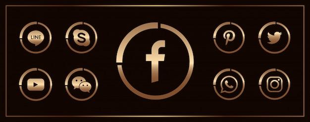 Коллекция популярных иконок социальных сетей