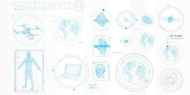 コンピューターとソフトウェアのインターフェースを設計するための薄い要素のコレクション。