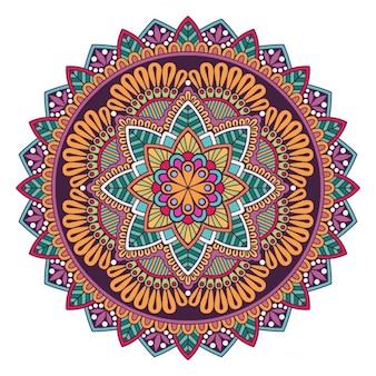 Цветочный дизайн фона мандалы