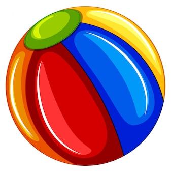 A Colourful Beach Ball on White Background