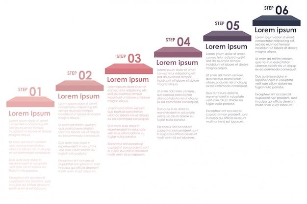 Красочные информационные этапы