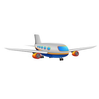 白い背中の商業飛行機