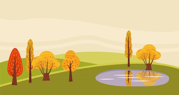 Озеро в сельской местности