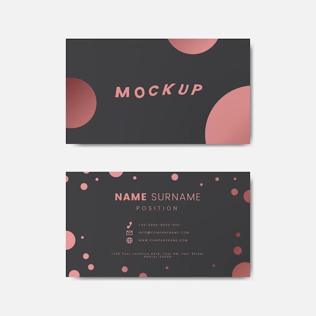 Креативный дизайн ретро-визитной карточки с точками польки