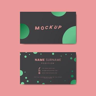 A creative retro business card design featuring polka dots