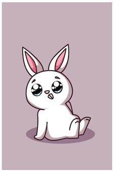 Милый и симпатичный мультяшный кролик
