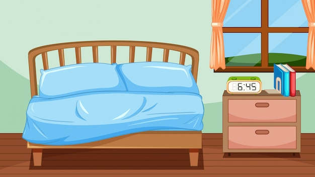 かわいい子供の寝室の背景