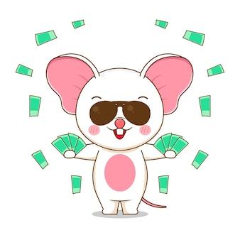 귀여운 부자 마우스 캐릭터