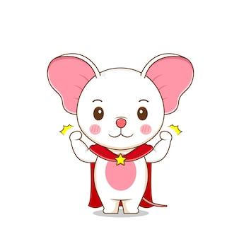 Милый сильный мышиный персонаж