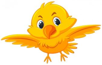 かわいい黄色の鳥