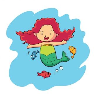 Милый персонаж зодиака рыбы