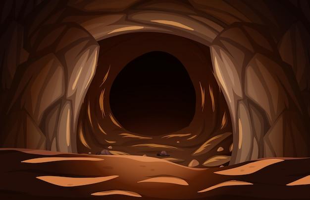 暗い石の洞窟