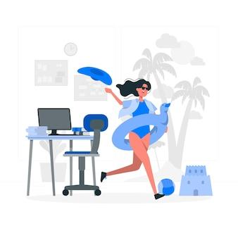 Иллюстрация концепции выходного дня