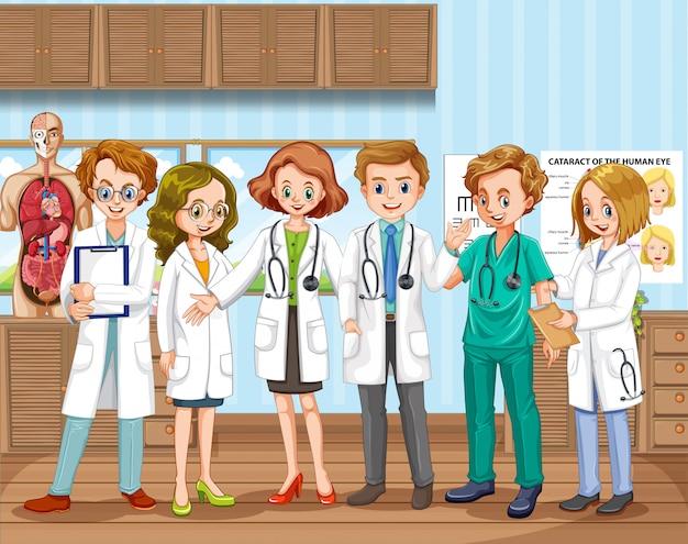 Докторская команда в больнице