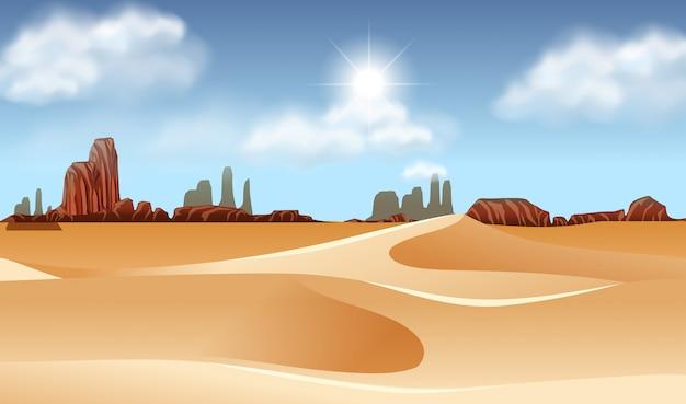 乾燥した砂漠の風景