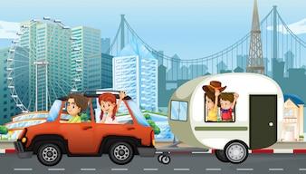 Семейное путешествие с караваном