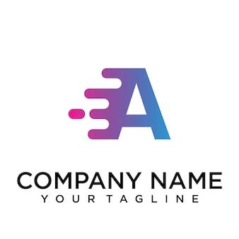 速い文字のロゴ
