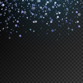 반짝이는 입자의 파란색 반짝임 빛 네온 파란색 반짝이는 별 먼지 흔적