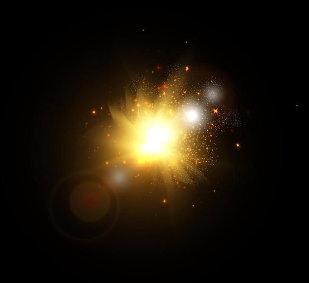 銀河空間での太陽の閃光