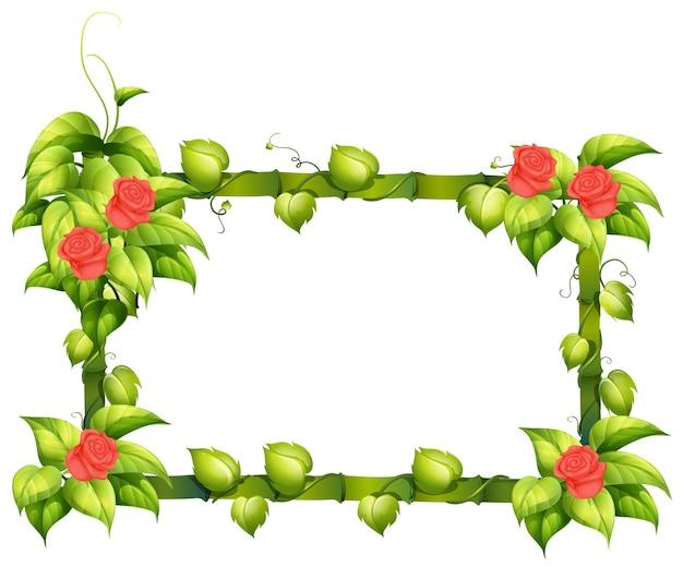 花のボーダーデザイン