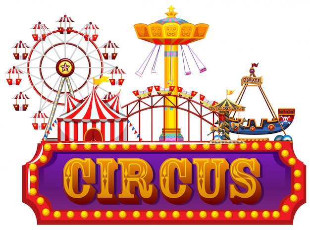 Праздничный яркий цирковой баннер