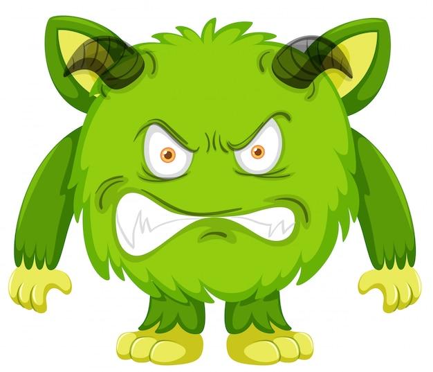 緑色のモンスターキャラクター
