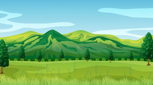 녹색 자연 풍경 배경