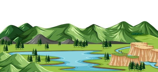 Зеленый природный пейзаж