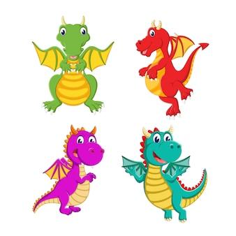 ドラゴンの漫画のグループ
